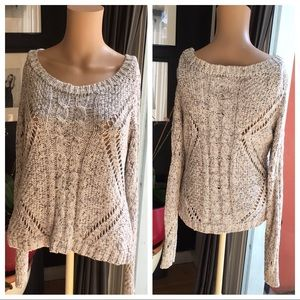 AEO Chunky Marled Cable Knit  Sweater  L